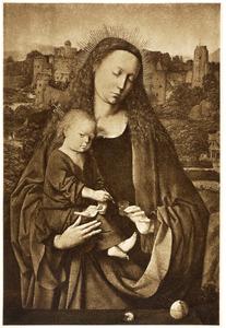 Maria met kind en inktpot