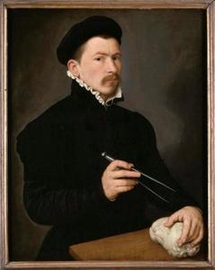 Portret van een beeldhouwer, mogelijk Johan Georg van der Schardt (c. 1530-in of na 1581)