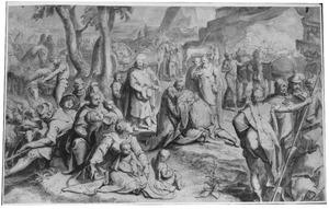 Jozef ontmoet zijn vader Jacob te Gosen (Genesis 46:29)
