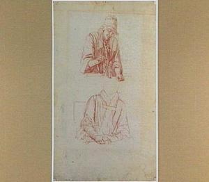 Studies van een vrouw met een weegschaal en met een glas