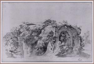 Overgroeide Romeinse ruïne