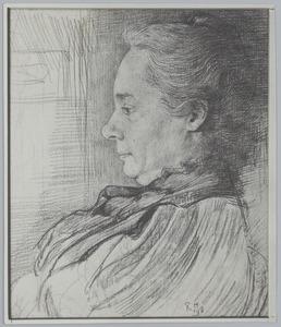 Portret van een vrouw en profil