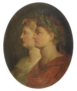 Portret van een Romeinse keizer en keizerin