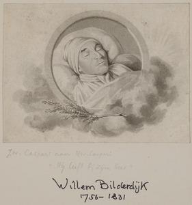 Portret van Hendrik Husley Viervant (1754-1814) op zijn sterfbed