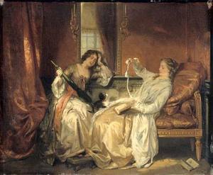 Twee vrouwen op een bank in gesprek