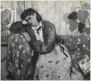 Vrouw op bank (Lenie van Geelkerken)