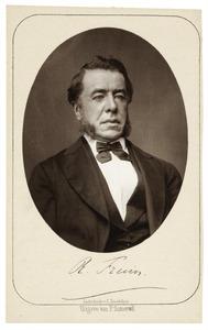 Portret van Robert Jacobus Fruin (1823-1899)