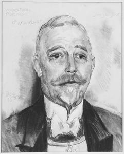 Portret van burgemeester W. de Vlugt (1872-1945)