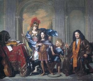 Dubbelportret van waarschijnlijk Anthony de Bordes (1615-1678) en zijn zoon Antoni de Bordes (1665-1722)
