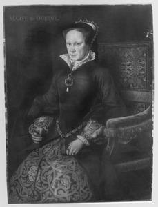 Portret van Mary Tudor, koningin van Engeland, echtgenote van Filips II