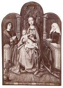 Maria met kind en stichterspaar