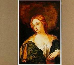 Portret van vrouw als heilige Magdalena