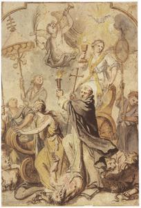 De triomf van het Christendom met de H. Dominicus als overwinnaar van de ketterij