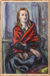 Portret van Gisèle d'Ailleyvan Waterschoot van der Gracht, glazenierster en verzetsvrouwe (1912-2013)