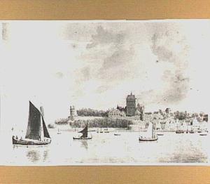 De Valkhofburcht en Belvédère te Nijmegen, gezien vanuit het noorden
