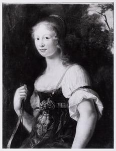 Portret van een vrouw in een arcadisch kostuum (fragment)
