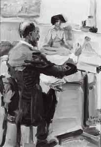 Portret van de schilder Marius Bauer (1867-1932)