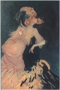 Femmes qui s'embrassent
