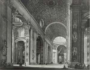 Interieur van de Sint Pieterskerk te Rome