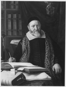 Portret van theoloog Leonard Marius (1588-1652)
