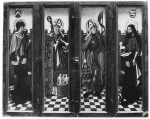 De H. Jodocus met stichter, de H. Nicolaas, de H. Quirinus, de H. Johannes de Doper met stichter