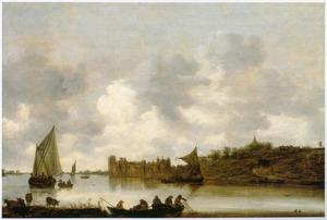 Gezicht op kasteel Rupelmonde aan de Schelde, ten zuiden van Antwerpen