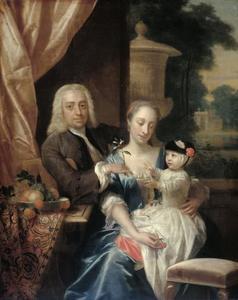 Portret van Isaac Parker (1702-1755), Justina Johanna Ramskrammer (1702-1798) en Willem Alexander Parker (1740-1747)