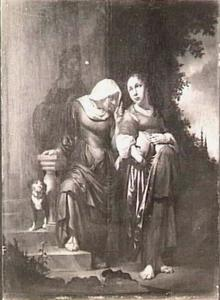 De vernedering van de zwangere Hagar door Sarai [Sara] (Genesis 16:4-6)