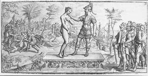 Polyxena geofferd op het graf van Achilles