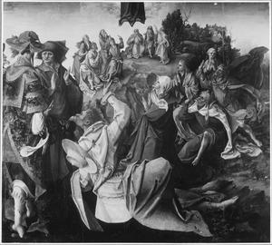 De hemelvaart (op de buitenzijde: De HH. Martha en Lazarus in grisaille)