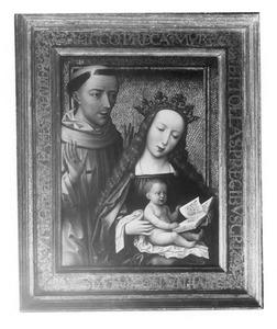 Maria met kind en de H. Franciscus van Assisi