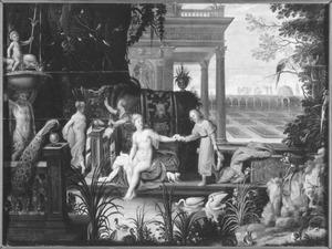David bespiedt Batseba vanaf zijn paleisdak; Batseba ontvangt Davids brief (2 Samuel 11:2-4)