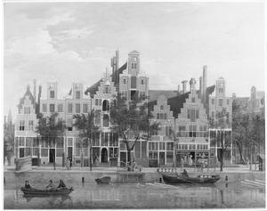 Gezicht op de Oude Schans, rechts de Rechtboomsloot in Amsterdam