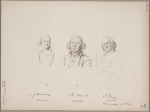 Portretten van Jacobus Buys (1724-1801), Izaak Schmidt (1740-1818) en Jurriaan Andriessen (1742-1819)