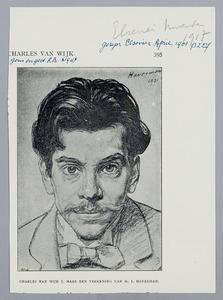 Portret van Charles van Wijk