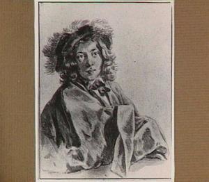 Portret van een jongeman met gepluimde hoed