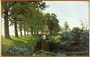 Gezicht op het poortgebouw van het voormalige kartuizerklooster Nieuwlicht (Laan van Chartroise) te Utrecht