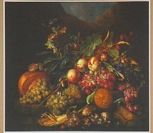 Bosstilleven met vruchten