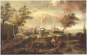 Fantasiegezicht op Amsterdam