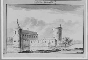 Voorzijde van kasteel Geertruidenberg anno 1417