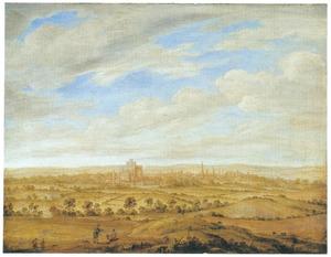 Heuvellandschap met gezicht op York
