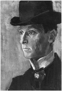 Portret van de komiek Israel 'Isidoor' Zwaaf (1873-1940)