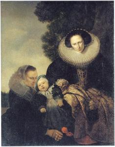 Portret van een moeder, kind en min