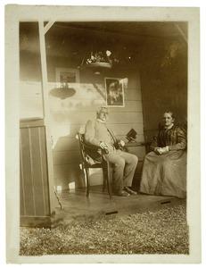 Portret van Joan Walrave van Houten (1833-1911) en Alida Berendina Langeler (1834-1917)