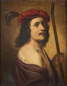 Jonge herder met rode baret