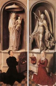 Maria met kind en Angelo di Jacopo Tani (links), de H. Michaël en Caterina di Francesca Tanagli (rechts)