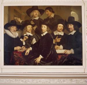 Groepsportret van de regenten van het Oudezijds Huiszittenhuis te Amsterdam