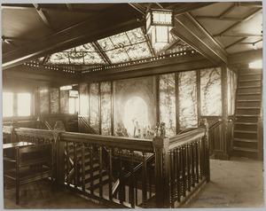 Scheepsinterieur s.s. Simon Bolivar, trappenhuis 1e kl., promenadedek