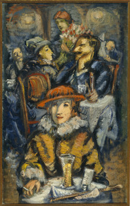 Vrouw in een café