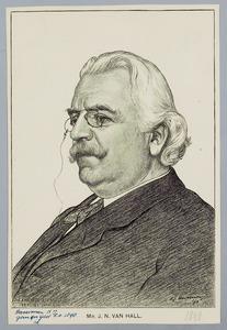 Portret van mr. J.N. van Hall